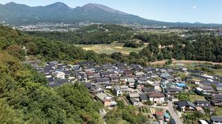 浅間山と宮沢地区(2018年10月1日)